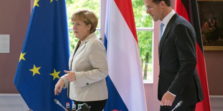 Regeringsoverleg Rutte en Merkel in Eindhoven