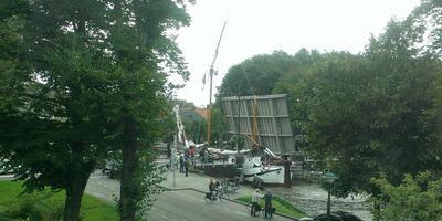 De Noorderbrug in de Noorderstadsgracht in Leeuwarden. Augustus 2015.