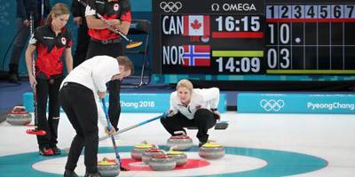 Spelen officieus gestart met gemengd curling