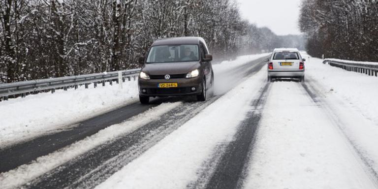 Sneeuw in oosten van Nederland
