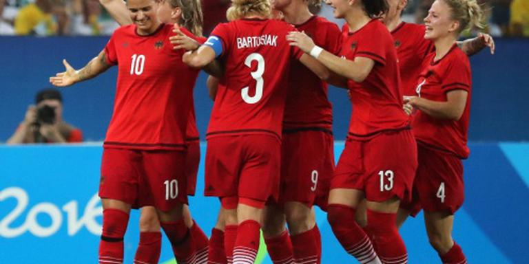 Goud voor Duitse voetbalsters