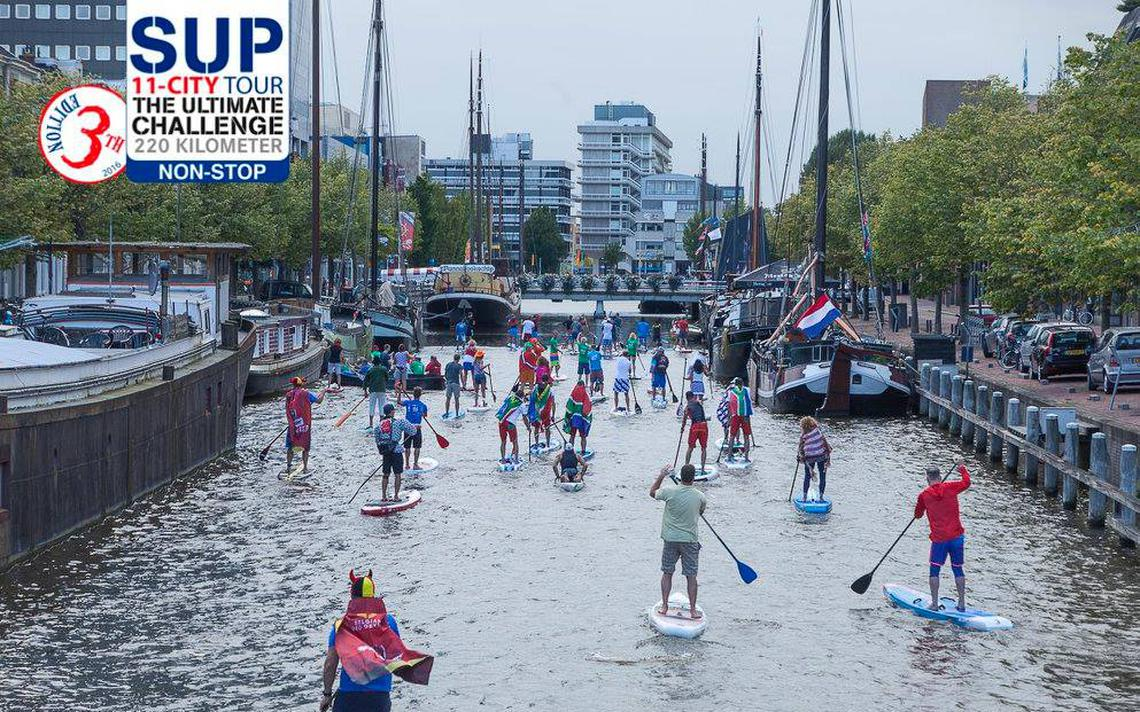 Tweede etappe SUP11 City Tour: Sloten-Workum