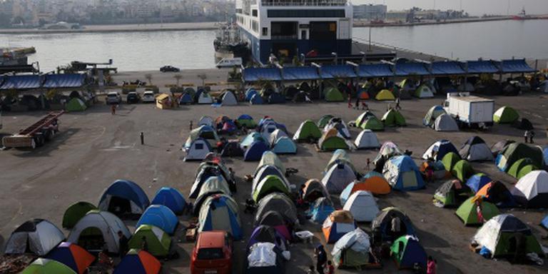 Gewonden bij gevechten Grieks migrantenkamp