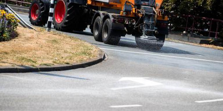 Herstel gesmolten asfalt Groningen duurt even