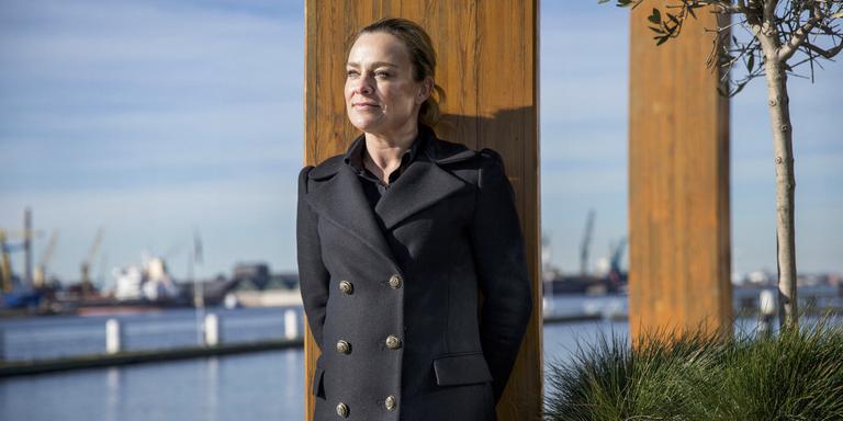 Lena Olivier, zus van de in 2014 vermoorde Miranda Olivier uit Leeuwarden. FOTO JEAN-PIERRE JANS