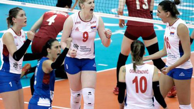 Servische volleybalsters groepswinnaar bij WK
