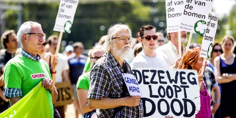 Demonstratie tegen verbreding A27 en A12