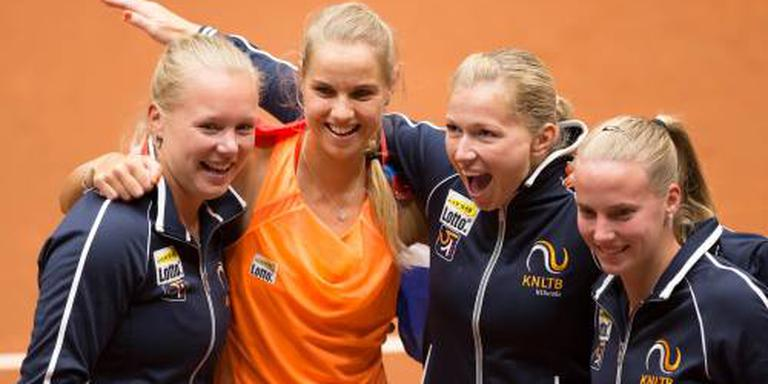 Tennissters thuis tegen Canada in Fed Cup