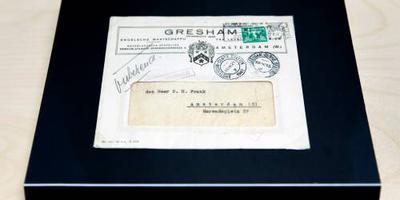 Brief aan Otto Frank voor 9500 euro verkocht