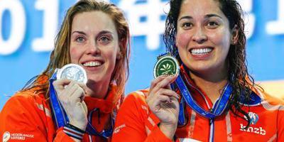 WK-zilver voor esfafettezwemsters op 4x50 vrij