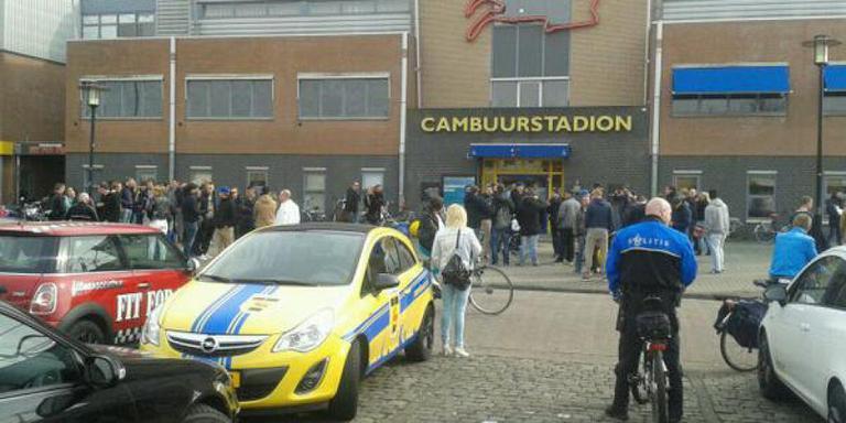 Oproer bij stadion Cambuur