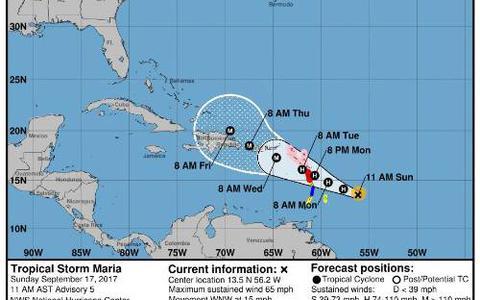 Maria groeit uit tot orkaan