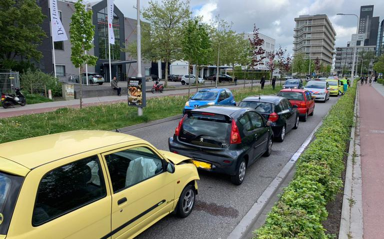 Opnieuw kop-staartbotsing Tesselschadestraat in Leeuwarden.