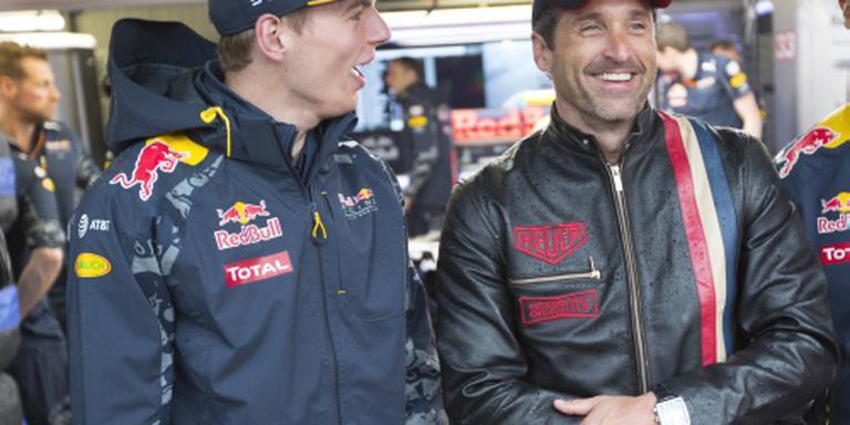 Verstappen ontmoet Patrick Dempsey in Monaco