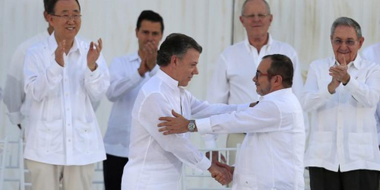 Akkoord FARC en regering Colombia getekend
