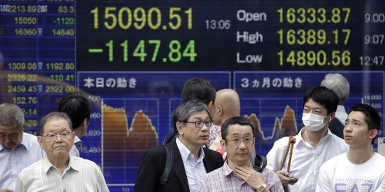 Nikkei hoger in Japanse cijferregen