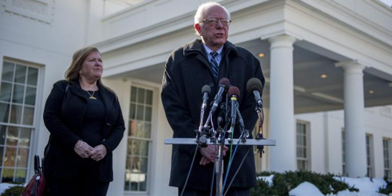 Democraat Bernie Sanders bij Obama