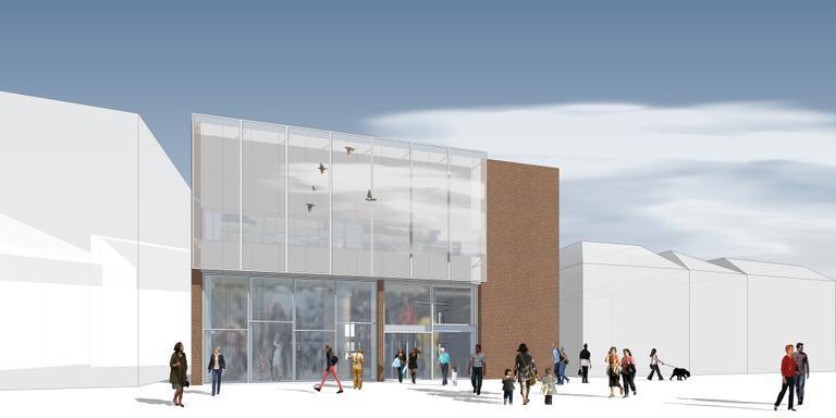 Impressie van het nieuwe pand van Bever van de hand van architect Johan Sijtsma.
