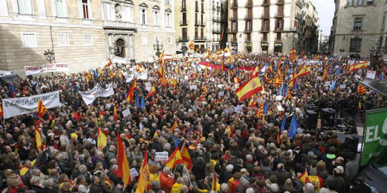Demonstratie tegen afscheiding in Barcelona