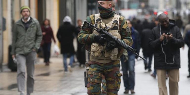 Langer militairen in Belgische straten