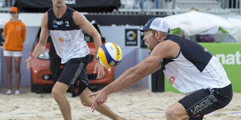 Beachvolleyballers verliezen van Brazilianen