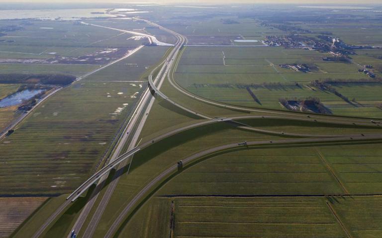 Bijna helft ongevallen in Friesland vindt plaats in buurt van op- of afrit.