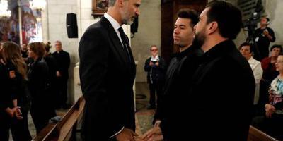 Spaanse koning treurt mee op Mallorca