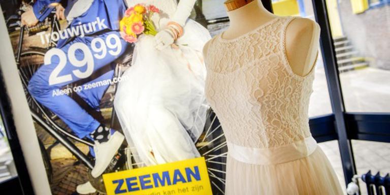 Zeeman-trouwjurk hit op Marktplaats