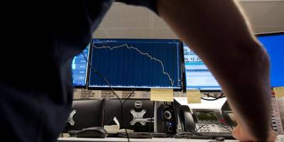 Lager slot Europese beurzen op handelsspanning