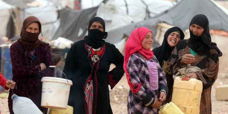 Voedselhulp aan vluchtelingen in niemandsland