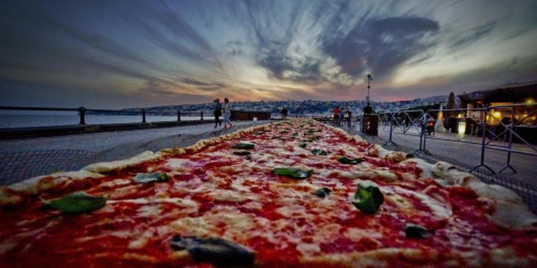Pizza van 1,8 kilometer gebakken