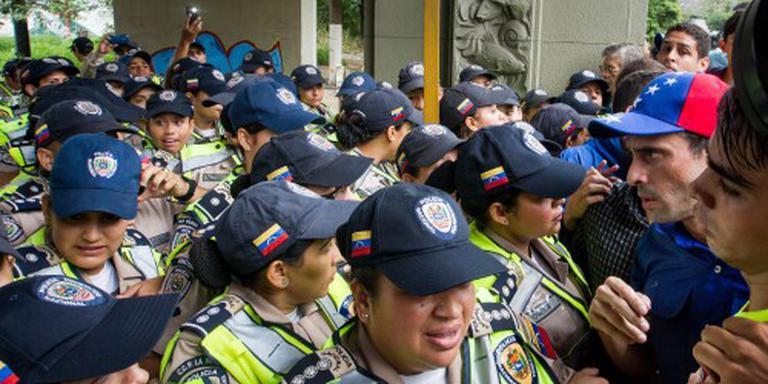 Politie grijpt in bij protestmars Venezuela
