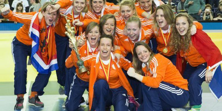 Zaalhockeysters prolongeren Europese titel