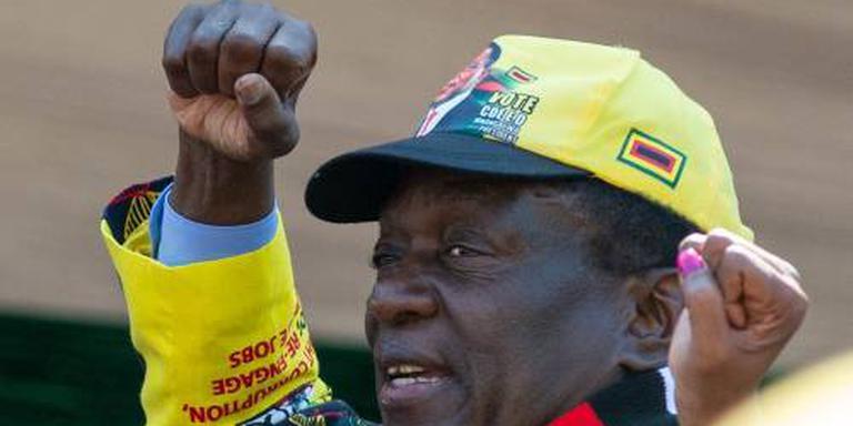 President aan kop bij verkiezing Zimbabwe