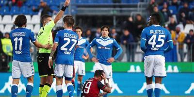 Dertiende rode kaart voor aanvaller Balotelli