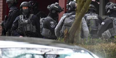 Politie in actie bij Trumanlaan