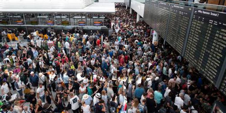 Passagiers overnachten op vliegveld München