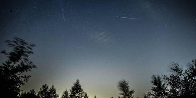 Veel vallende sterren te zien