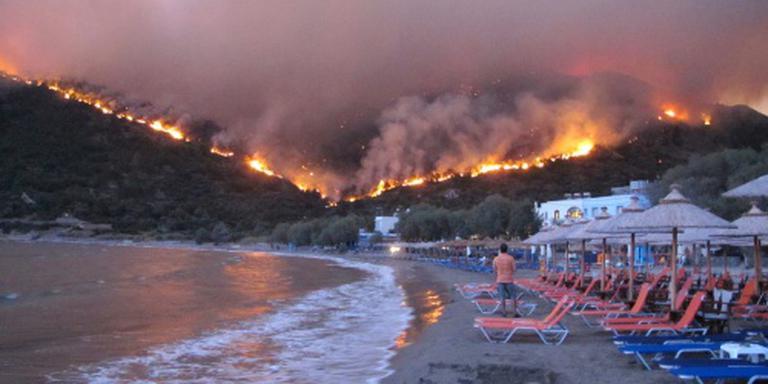 Evacuaties door brand op Grieks eiland Chios