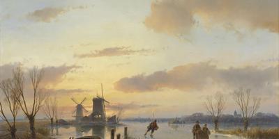 Winterlandschap (1846) door Andreas Schelfhout. FOTO TEYLERS MUSEUM.