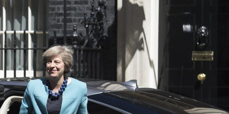 Britse premier May eist brexit-succes