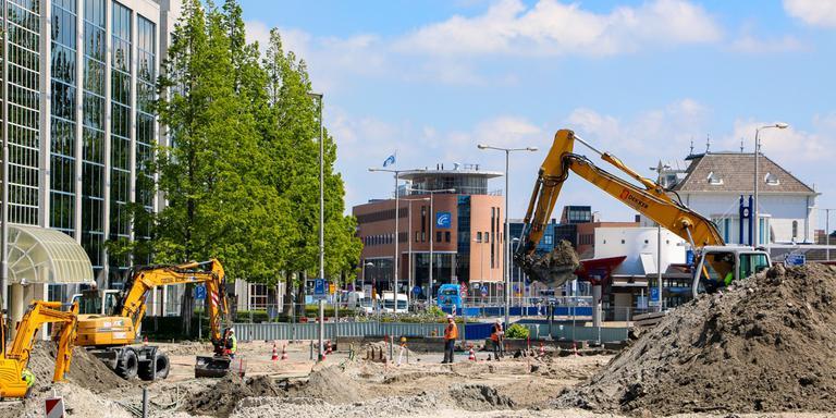 Foto van eerdere werkzaamheden op het busstation. FOTO LC/ARODI BUITENWERF