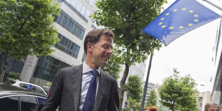 Rutte in Brussel: EU niet versnellen
