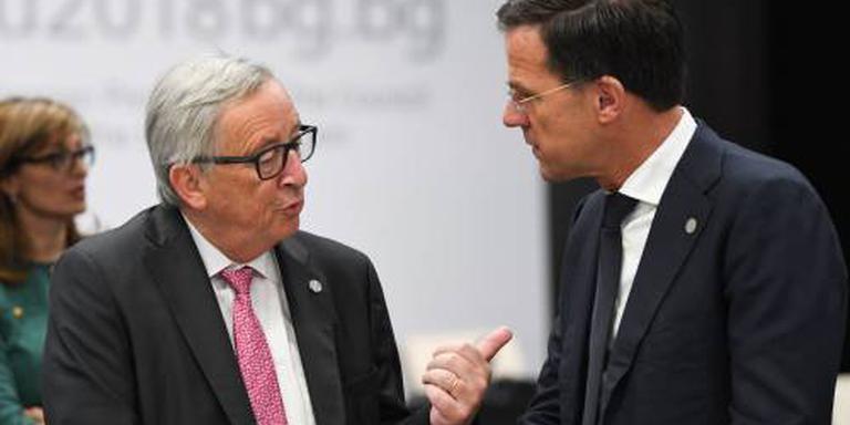 Juncker belt met Rutte over bezoek aan Trump