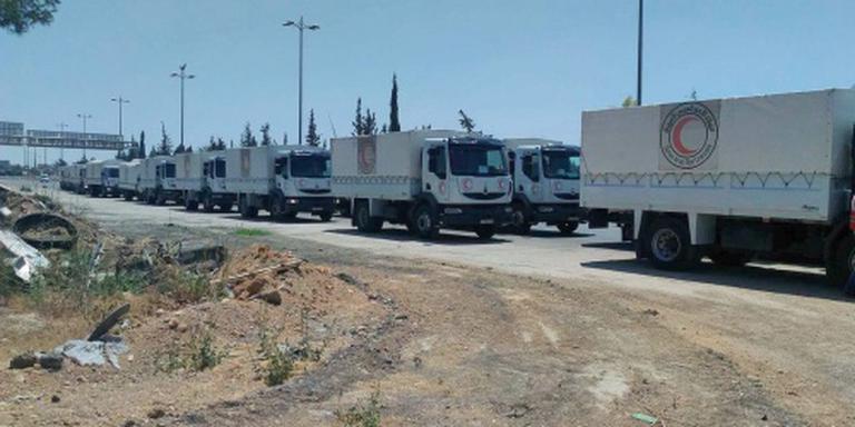 Hulp bereikt ook laatste voorsteden Damascus