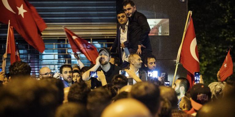 Aanhangers Erdogan demonstreren in Rotterdam