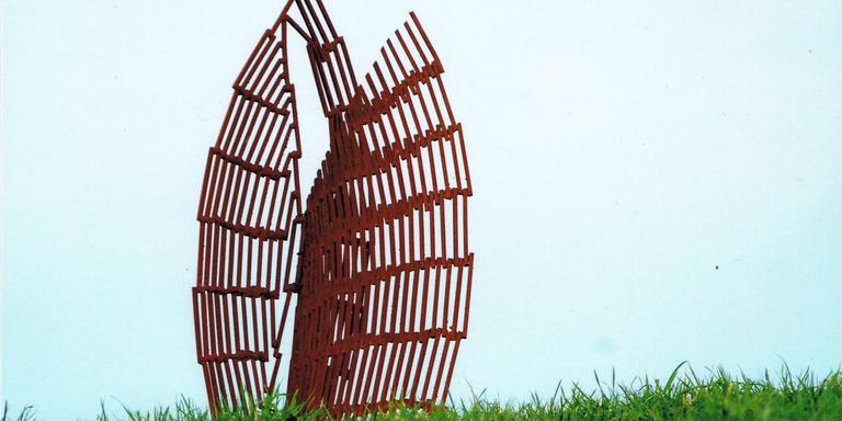 De schetsontwerpen zijn beoordeeld door een kunstcommissie met vertegenwoordigers van dorpsbelang Burgum, Stichting Keunstwurk, de provincie Fryslân en de gemeente Tytsjerksteradiel. FOTO GEMEENTE ACHTKARSPELEN