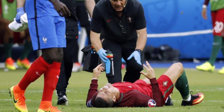 Ronaldo valt vroeg uit in EK-finale