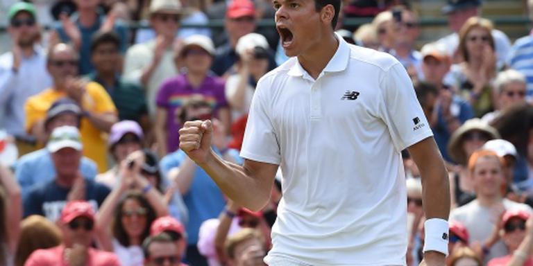 Raonic stuit opmars Querrey op Wimbledon