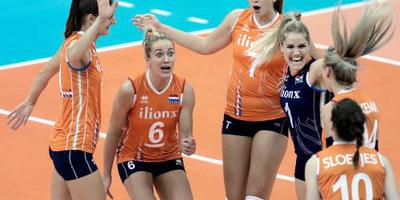 Volleybalsters naar halve finales WK